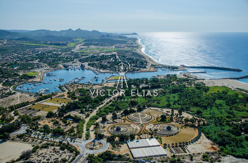 Aerial view of Marina Puerto Los Cabos. San Jose del Cabo. Baja California Sur, Mexico.