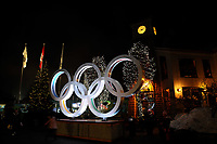 VANCOUVER OLYMPIC GAMES 2010 - VANCOUVER (CAN) - /02/2010 - PHOTO : FRANCK FAUGERE / DPPI<br /> OLYMPIC RINGS IN WHISTLER