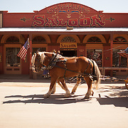 Horse and carriage history tour in Tombstone, Arizona.