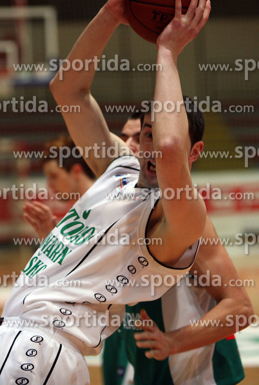 Nemanja Jelesijevic of Zlatorog Lasko at basketball game Zlatorog Lasko - Krka in in the first match of quarter-final of Spar Cup, on February 7, 2008 in Ljubljana, Slovenia.   (Photo by Vid Ponikvar / Sportal Images).
