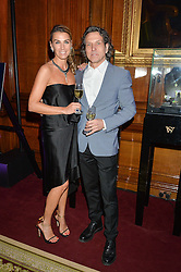 "STEPHEN & ASSIA WEBSTER at the presentation of Le Prix Champagne De La Joie de Vivre to Stephen Webster in celebration of his long standing contribution to ""Joie de Vivre' held at the Council Room, One Great George Street, London on 22nd April 2015."