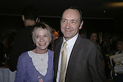 Suzannah York and Kevin Spacey, The 25th hour post party at the Plaza on the River, 18 Albert Embankment. Culmination of the 24 Hour Plays Celebrity Gala at the Old Vic.London. 8 October 2006.  -DO NOT ARCHIVE-© Copyright Photograph by Dafydd Jones 66 Stockwell Park Rd. London SW9 0DA Tel 020 7733 0108 www.dafjones.com