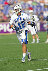 31 May 2010: Duke Blue Devils midfielder Justin Turri (12) in a 5-6 win over the Notre Dame Fighting Irish for the NCAA Lacrosse Championship at M&T Bank Stadium in Baltimore, MD.