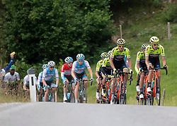 12.07.2019, Kitzbühel, AUT, Ö-Tour, Österreich Radrundfahrt, 6. Etappe, von Kitzbühel nach Kitzbüheler Horn (116,7 km), im Bild Team Neri Sottoli - Selle Italia - KTM, ITA an der Spitze des Rennens // Team Neri Sottoli - Selle Italia - KTM of Italy leads the peleton during 6th stage from Kitzbühel to Kitzbüheler Horn (116,7 km) of the 2019 Tour of Austria. Kitzbühel, Austria on 2019/07/12. EXPA Pictures © 2019, PhotoCredit: EXPA/ Reinhard Eisenbauer