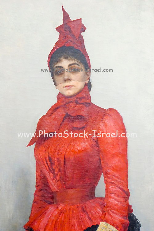 Portrait of Baroness Varvara Ikskul von Hildenbandt, by Ilya Repin. Painting on display at the State Tretyakov Gallery (GTG) an art gallery in Moscow, Russia, the foremost depository of Russian fine art in the world.