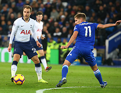 December 8, 2018 - Leicester, England, United Kingdom - Leicester, December 08, 2018.Tottenham Hotspur's Christian Eriksen.during the English Premier League match between Leicester City and Tottenham Hotspur at the King Power Stadium in Leicester, Britain, 8 December 2018  (Credit Image: © Action Foto Sport/NurPhoto via ZUMA Press)