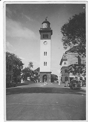 Former lighthouse, Old Fort Colombo.<br />