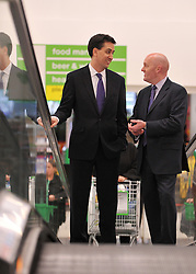 © Licensed to London News Pictures. 28/11/2011, Clapham, UK. ED MILIBAND, Leader of the Labour Party arrives at the supermarket to hold a question and answer session in an Asda supermarket in Clapham, London, today 28 November 2011. The session is ahead of the Chancellors Autumn Statement tomorrow (29 Nov). Photo credit : Stephen Simpson/LNP