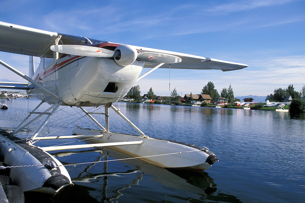 Lake Hood, Seaplane Hub, Anchorage, Alaska, USA
