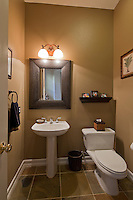 Interior of domestic toilet