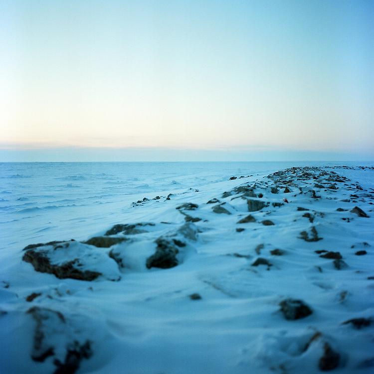 KIVALINA, AK - 2012: Kivalina Sea Wall.