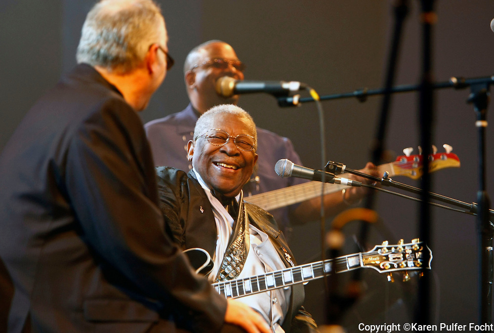 B.B. King plays the Blues Music Awards in 2009 in Memphis, Tennessee.