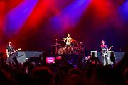 Punk rockers Blink-182 finish off the night Sturday at Music Midtown in Piedmont Park, Atlanta.