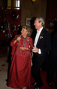 Dame Vivienne Duffield and The Duke of Marlborough, Ball at Blenheim Palace in aid of the Red Cross, Woodstock, 26 June 2004. SUPPLIED FOR ONE-TIME USE ONLY-DO NOT ARCHIVE. © Copyright Photograph by Dafydd Jones 66 Stockwell Park Rd. London SW9 0DA Tel 020 7733 0108 www.dafjones.com