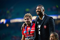 Joie Toulon - Leigh HALFPENNY / Delon ARMITAGE - 02.05.2015 - Clermont / Toulon - Finale European Champions Cup -Twickenham<br />