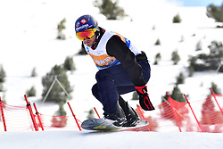 DUNAND Sebastien, SB-UL FRA, Banked Slalom at the WPSB_2019 Para Snowboard World Cup, La Molina, Spain