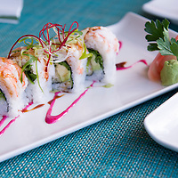 A plate of fresh sushi at Two Oceans Restaurant located at Cape Point near Cape Town in South Africa.