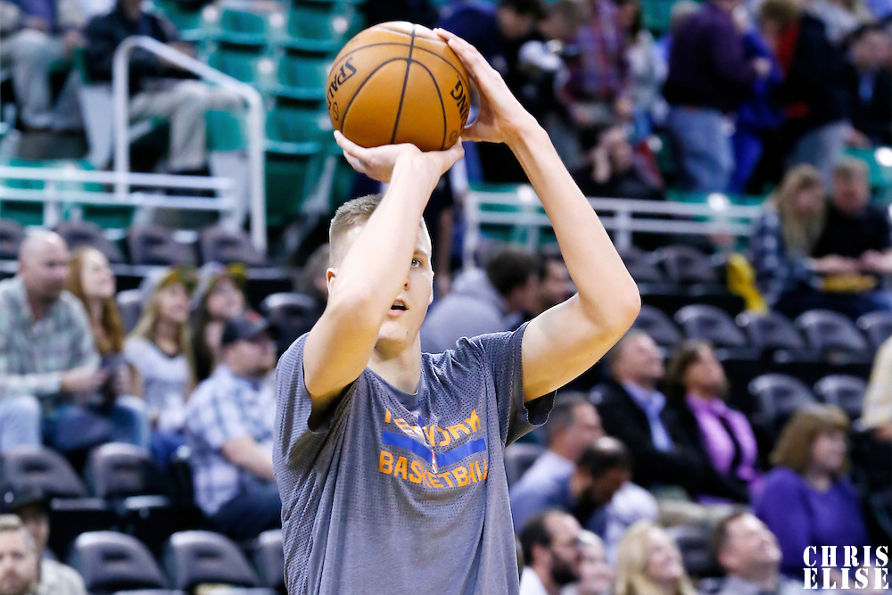 09 December 2015: New York Knicks forward Kristaps Porzingis (6) warms up prior to the Utah Jazz 106-85 victory over the New York Knicks, at the Vivint Smart Home Arena, Salt Lake City, Utah, USA.