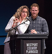 Photography &copy;Mara Lavitt<br /> June 11, 2018<br /> <br /> The 28th Annual Connecticut Critics Circle Awards, Westport Country Playhouse: hosts Jenn Harris and Matt Wilkas.