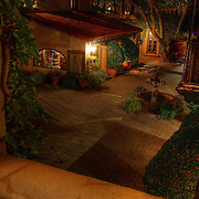 The view into a courtyard from a Tlaquepaque balcony, Sedona,AZ