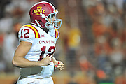 AUSTIN, TX - OCTOBER 18:  Sam B. Richardson #12 of the Iowa State Cyclones walks off the field against the Texas Longhorns on October 18, 2014 at Darrell K Royal-Texas Memorial Stadium in Austin, Texas.  (Photo by Cooper Neill/Getty Images) *** Local Caption *** Sam B. Richardson