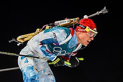 February 18, 2018 - Pyeongchang, Gangwon, South Korea - Michal Krcmar of  Czech Republic  competing in  15 km mass start biathlon at Alpensia Biathlon Centre, Pyeongchang,  South Korea on February 18, 2018. (Credit Image: © Ulrik Pedersen/NurPhoto via ZUMA Press)