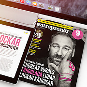 Andreas Vural, CEO and founder of Happy Plugs. Assignment for Entreprenör. Photos by Daniel Roos, Stockholm, Sweden