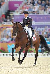 Vogelsang, Renate, Fabriano<br /> London - Olympische Spiele 2012<br /> <br /> Dressur Grand Prix de Dressage<br /> © www.sportfotos-lafrentz.de/Stefan Lafrentz