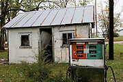 Santa Fe Missouri MO USA, An abandoned gas station. Santa Fe