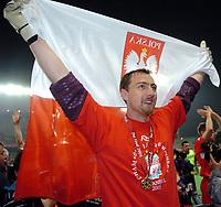 Fotball<br /> England 2004/2005<br /> Foto: Wrofoto/Digitalsport<br /> NORWAY ONLY<br /> <br /> UEFA Champions League - Finale<br /> Liverpool v AC Milan<br /> 25th May, 2005<br /> <br /> Goalkeeper Jerzy Dudek celebrates his win