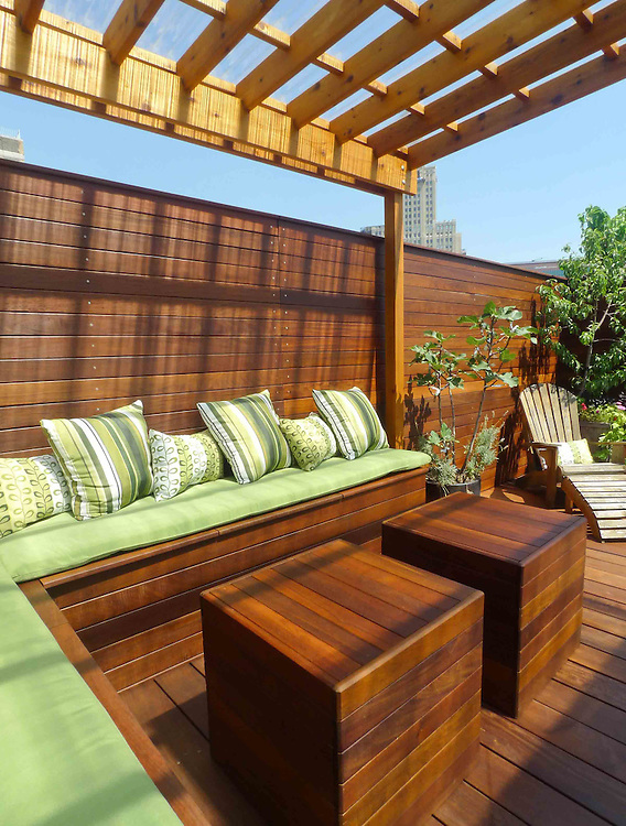rooftop furniture. new york rooftop terrace designed with two decks pergola cabana and custom furniture l