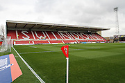 The County Ground during the Sky Bet League 1 match between Swindon Town and Milton Keynes Dons at the County Ground, Swindon, England on 4 April 2015. Photo by Shane Healey.