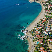 Aerial view of house development in Palmilla. San Jose del Cabo. Baja California Sur, Mexico.