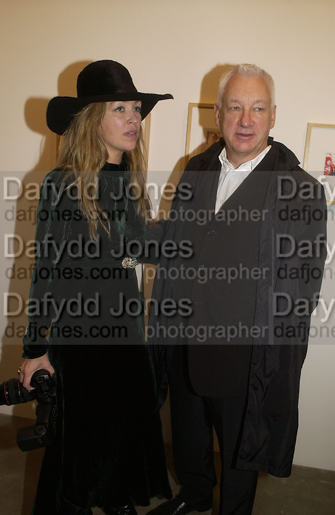 Jessica Craig-Martin and her father Michael Craig-Martin. . Richard Patterson: Paintings from Dallas.  Timothy Taylor Gallery. Dering St.  London. 21 October 2005. ONE TIME USE ONLY - DO NOT ARCHIVE © Copyright Photograph by Dafydd Jones 66 Stockwell Park Rd. London SW9 0DA Tel 020 7733 0108 www.dafjones.com