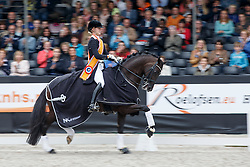 Nekeman Denise, (NED), Boston STH<br /> Young Rider Kür Final<br /> Dutch Championship Dressage - Ermelo 2015<br /> © Hippo Foto - Dirk Caremans<br /> 19/07/15