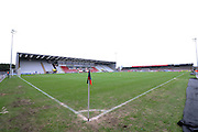 The Globe Arena before the Sky Bet League 2 match between Morecambe and Yeovil Town at the Globe Arena, Morecambe, England on 16 January 2016. Photo by Pete Burns.