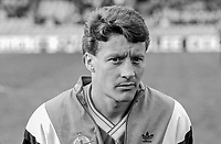 Danny Wilson, footballer, N Ireland & Luton Town, 198800305DW3.<br /> <br /> Copyright Image from Victor Patterson, Belfast, UK<br /> <br /> t: +44 28 9066 1296 (from Rep of Ireland 048 9066 1296)<br /> m: +44 7802 353836<br /> e: victorpattersonbelfast@gmail.com<br /> <br /> www.images4media.com<br /> <br /> Please see my full Terms and Conditions of Use at https://www.images4media.com/p/terms-conditions - it is IMPORTANT that you familiarise yourself with them.<br /> <br /> Images used online incur an additional cost. This cost should be agreed in writing in advance. Online images must be visibly watermarked i.e. © Victor Patterson or that of the named photographer within the body of the image. The original metadata must not be deleted from images used online.<br /> <br /> This image is only available for the use of the download recipient i.e. television station, newspaper, magazine, book publisher, etc, and must not be passed on to a third party. It is also downloaded on condition that each and every usage is notified within 7 days to victorpattersonbelfast@gmail.com.<br /> <br /> The right of Victor Patterson (or the named photographer) to be identified as the author is asserted in accordance with The Copyright Designs And Patents Act (1988). All moral rights are asserted.