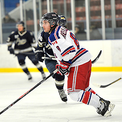 Toronto, ON - Feb 16 : Ontario Junior Hockey League Game Action between the North York Rangers Hockey Club and the Toronto Lakeshore Patriots Hockey Club.  Corey Helliwell #8 of the North York Rangers Hockey Club during second period game action.<br /> (Photo by Gary Keys / OJHL Images)