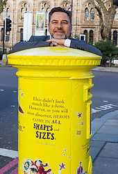 David Walliams is pictured at the unveiling of a special edition Royal Mail postbox celebrating his literary work outside London  s Natural History Museum, which features in his book   The Ice Monster  . <br /> <br /> To mark World Book Day, Royal Mail has decorated four postboxes across the UK honouring some of the most popular British children  s authors, including C.S. Lewis, Judith Kerr and Frances Hodgson Burnett. The postboxes are adorned with lines from some of the writers   most famous works, and will be transformed for a month. London , March 05 2019.