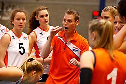 20140426 NED: Jong Oranje Vrouwen - Roemenie, Arnhem <br /> Matt van Wezel headcoach The Netherlands<br /> ©2014-FotoHoogendoorn.nl / Pim Waslander