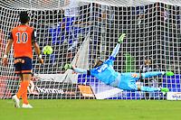 Goal Kevin BERIGAUD / Steve MANDANDA - 09.01.2015 - Montpellier / Marseille - 20eme journee de Ligue 1<br />Photo : Nicolas Guyonnet / Icon Sport