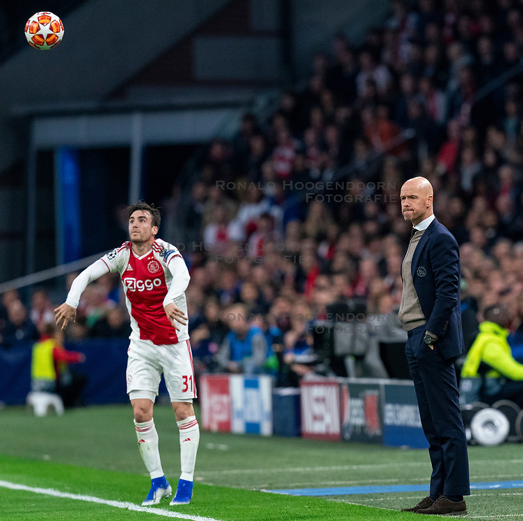 08-05-2019 NED: Semi Final Champions League AFC Ajax - Tottenham Hotspur, Amsterdam<br /> After a dramatic ending, Ajax has not been able to reach the final of the Champions League. In the final second Tottenham Hotspur scored 3-2 / Coach Erik ten Haf of Ajax, Nicolas Tagliafico #31 of Ajax