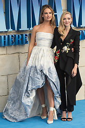 © Licensed to London News Pictures. 16/07/2018. London, UK. Lily James and Amanda Seyfried attend the Mamma Mia! Here We Go Again World Film Premiere at Eventime Apollo Hammersmith. Photo credit: Ray Tang/LNP