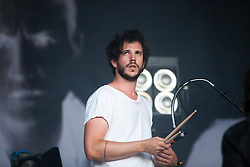 """The Vaccines' Pete Robertson. Friday at Rockness 2013, the annual music festival which took place in Scotland at Clune Farm, Dores, on the banks of Loch Ness, near Inverness in the Scottish Highlands. The festival is known as """"the most beautiful festival in the world"""" ."""