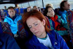 05-07-2014 NED: Iceland Diabetes Challenge dag 1, Landmannalaugar <br /> Vandaag ging de challenge van start. Met een bus gingen we van Vogar naar Landmannalaugar en zagen we de eerste tekenen van het prachtige landschap van IJsland / Marion