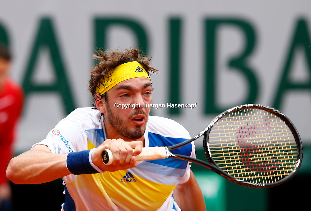 French Open 2013, Roland Garros,Paris,ITF Grand Slam Tennis Tournament,<br /> Guillaume Rufin (FRA),Aktion,Einzelbild,Halbkoerper,Querformat