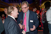 ANDREW ROBERTS; PIERS RUSSELL-COBB, Orion Authors' Party celebrating their 20th anniversary. Natural History Museum, Cromwell Road, London, 20 February 2012.