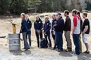EAST MONTPELIER - USA Vermont Olympians speak at Morse Farm about the influence of climate change on winter sports they have experienced world wide and make suggestions on attacking the problem. Speaking, Liz Stephens, L/R Ida Sargent, Susan Dunklee, Hannah Dreissigacker