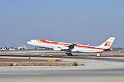 Israel, Ben-Gurion international Airport Iberia Airbus A340-300 landing