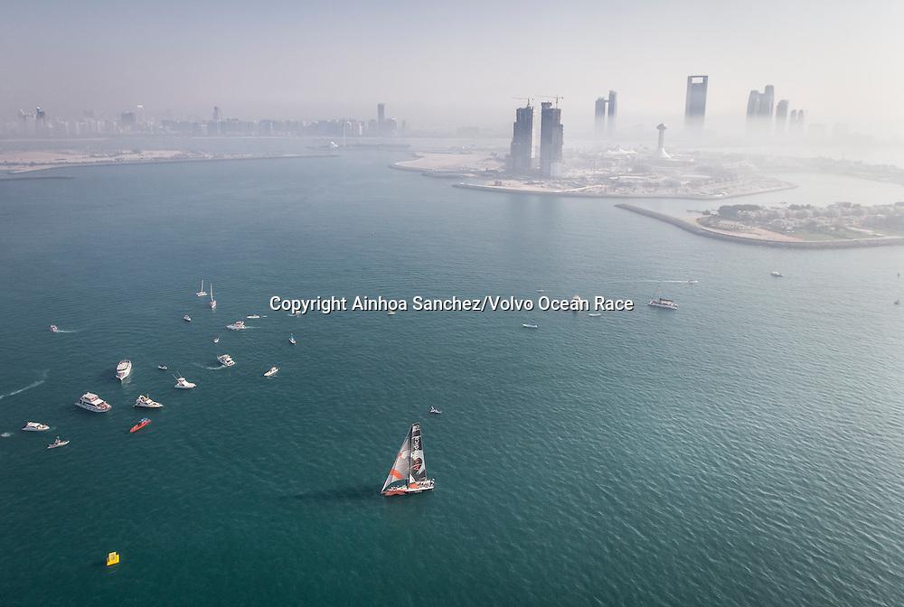 January, 2015. Start of Leg 3 in Abu Dhabi.
